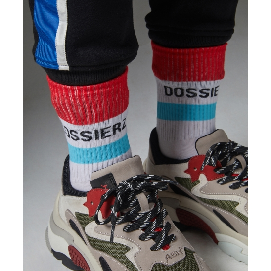 D.Z Logo Socks_White