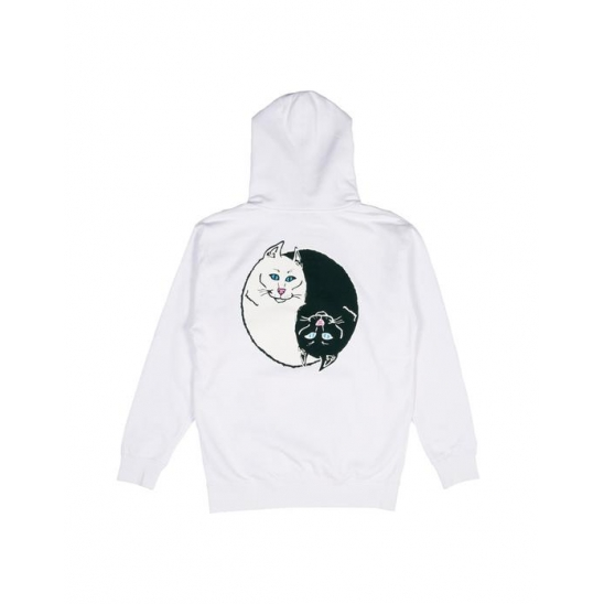 Nermal Yang Pullover Sweater _ White / 후드스웻셔츠