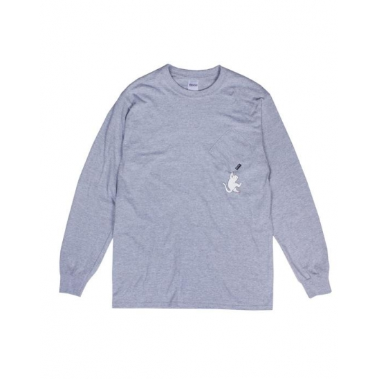 Hang In There L/S _ Heather Grey / 롱슬리브 긴팔티셔츠