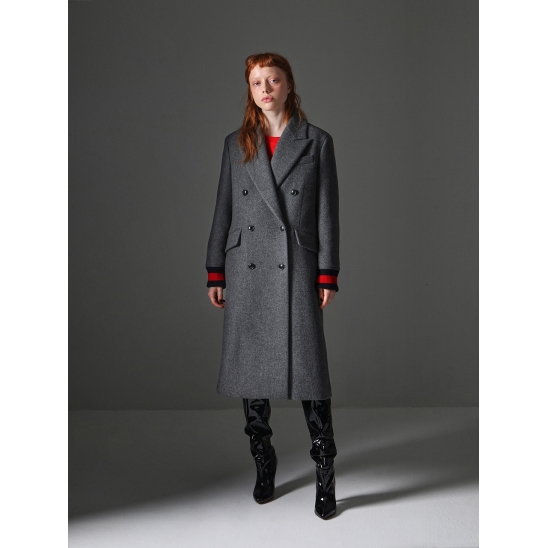 Double Breasted Coat_Dark Grey