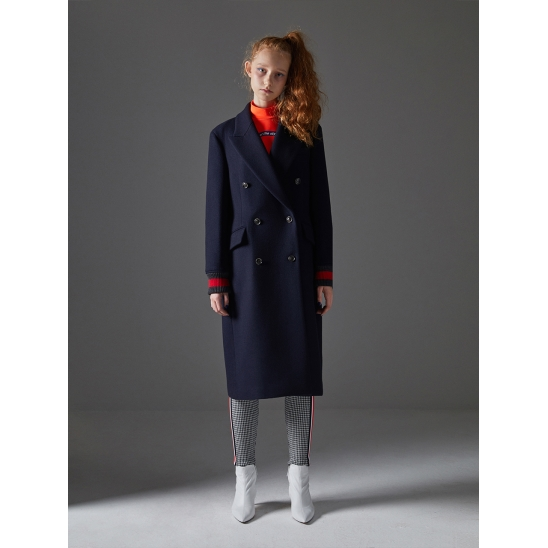 Double Breasted Coat_Navy