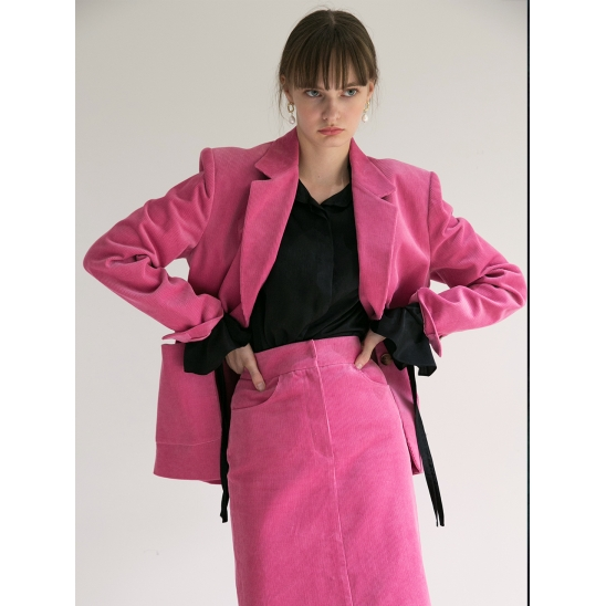 18fw out pocket jacket pink