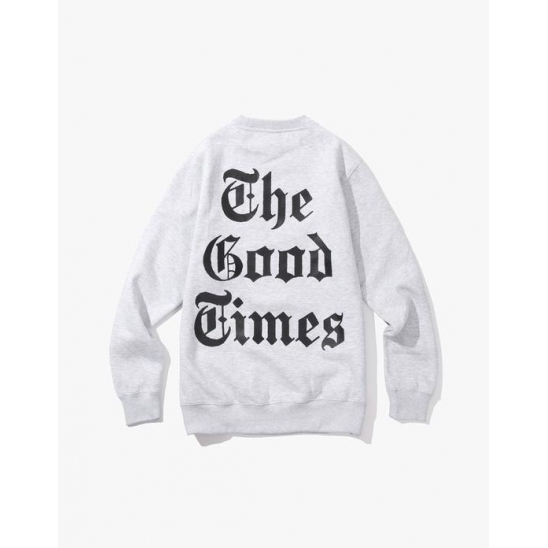 Good Times Crewneck - Heather Grey / 맨투맨, 스웻셔츠