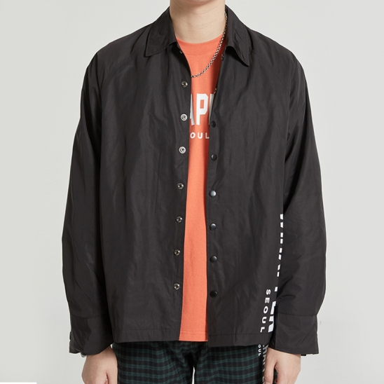 RAGLAN COACH JACKET (BLACK)
