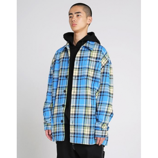 SP-Logo Sherpa Shirt _ Blue / 긴팔셔츠