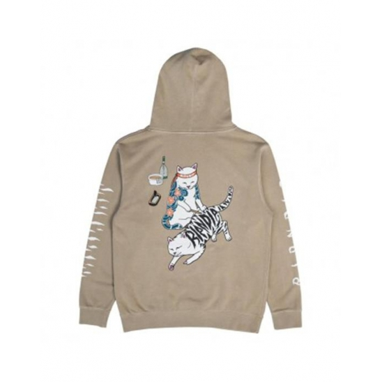Tattoo Nerm Pullover Sweater _ Tan / 후드스웻셔츠