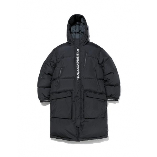 DSN-Logo Oversized Down Parka Black / 디네댓 롱패딩