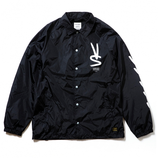 PAINT OVERSIZED COACH JACKET BLACK