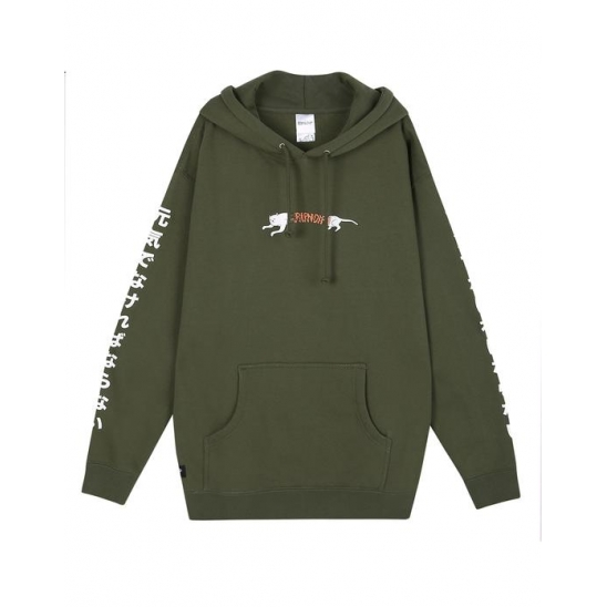 Zipperface Pullover Sweater _ Tan / 후드스웻셔츠
