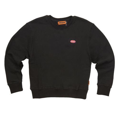 [FRAY] LOGO CREWNECK SWEATER - BLACK
