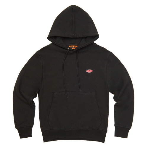 [FRAY] LOGO PULLOVER HOODIE - BLACK