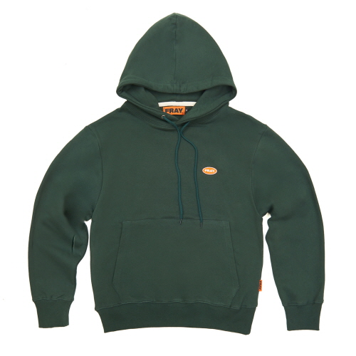 [FRAY] LOGO PULLOVER HOODIE - DEEP GREEN