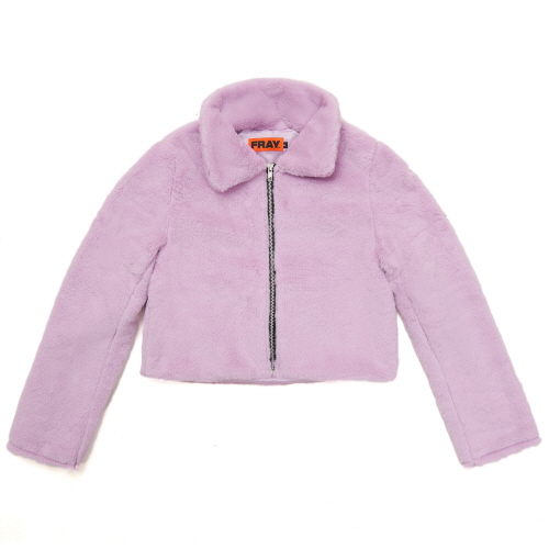 [FRAY] FLEECE FUR JACKET - PINK