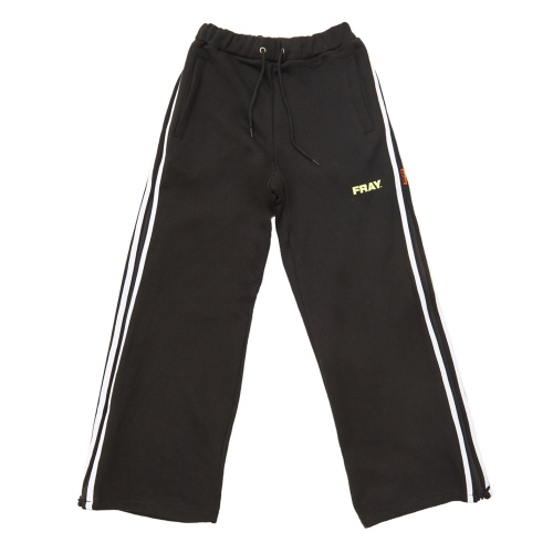 [FRAY] SIDE ZIPUP WIDE PANTS - BLACK