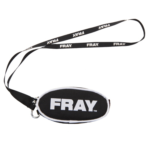 [FRAY] FRAY COIN POUCH - BLACK