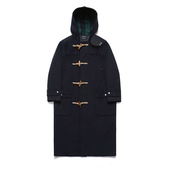 Wool Over Long Duffle Coat_Dusky Navy