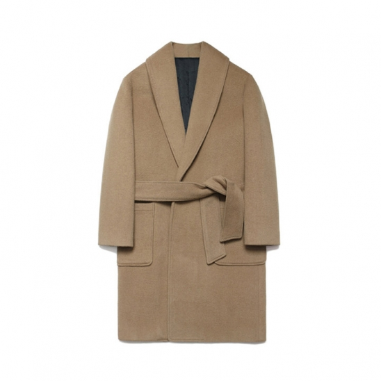 Wool robe Coat_Rich Beige