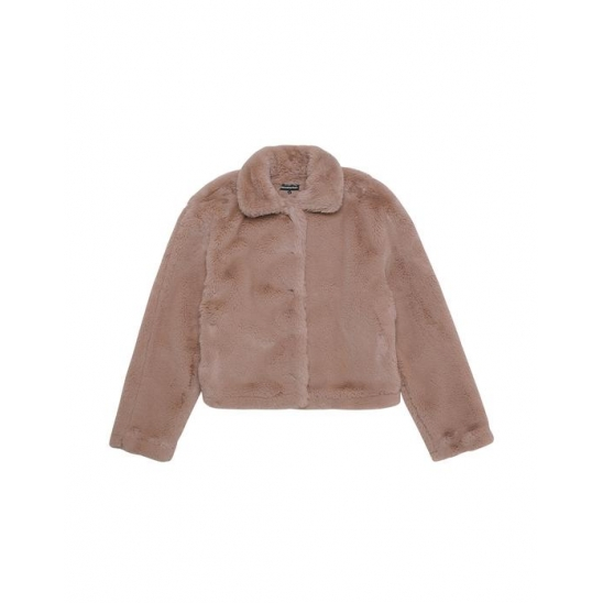 Faux Fur Jacket Beige / 디네댓 후리스