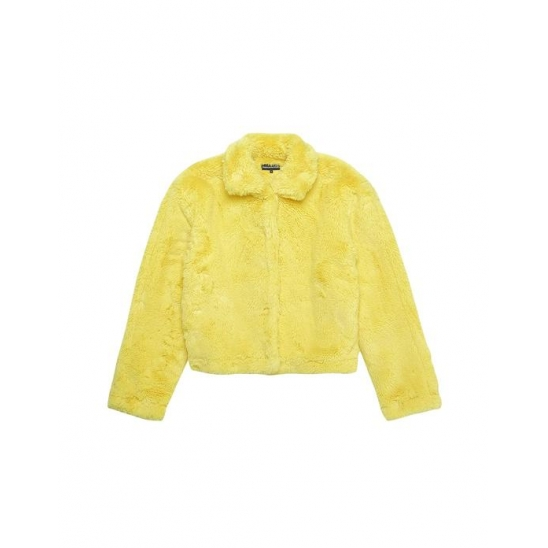 Faux Fur Jacket Yellow / 디네댓 후리스