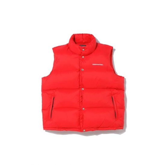 T-Logo Puffer Down Vest Red / 디네댓 패딩